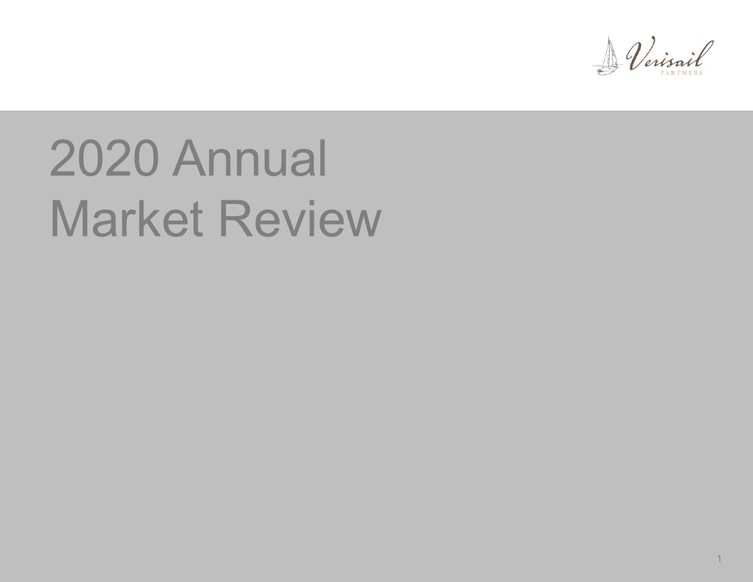 COVER PAGE ONLY.2020 Annual Market Review